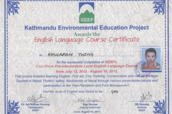 Dev English Certification